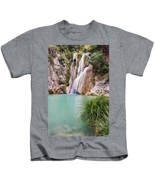 River Neda Waterfalls Kids T-Shirt