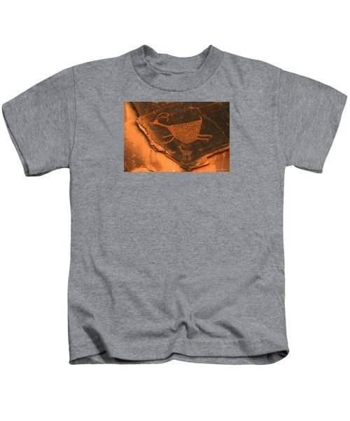 Rock Art At Eye Of The Sun Arch Kids T-Shirt