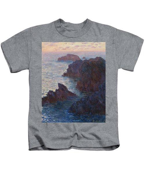 Rocks At Belle-lle, Port-domois, 1886 Kids T-Shirt