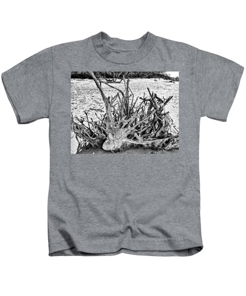 Rooted In Black And White Kids T-Shirt