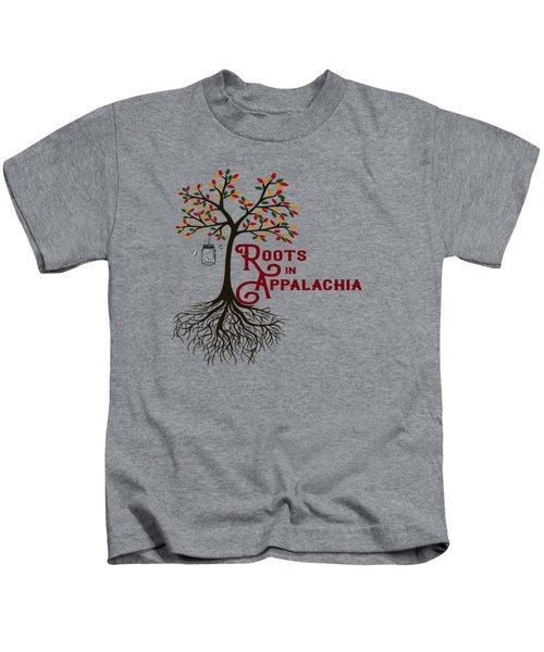 Roots In Appalachia Lightning Bugs Kids T-Shirt