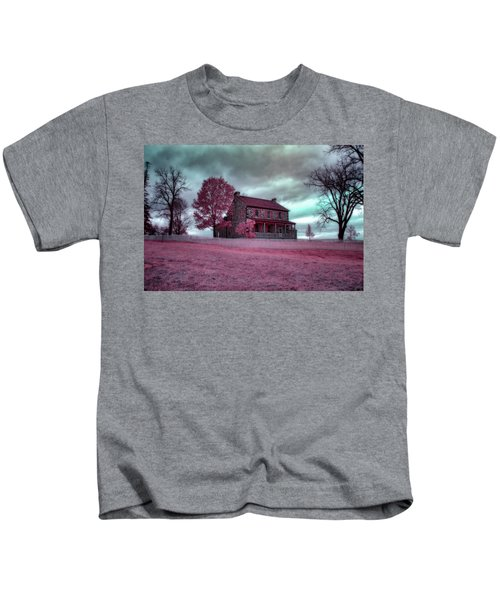 Rose Farm In Infrared Kids T-Shirt