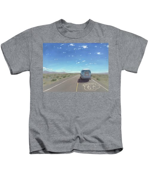 Route 66, Somewhere In California Kids T-Shirt