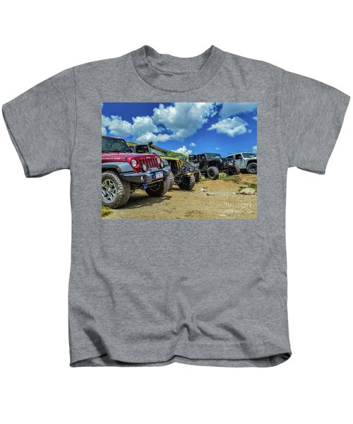 Row Of Jeeps Kids T-Shirt