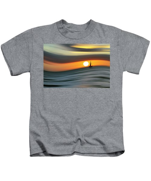 Sailing To The Sunset Kids T-Shirt
