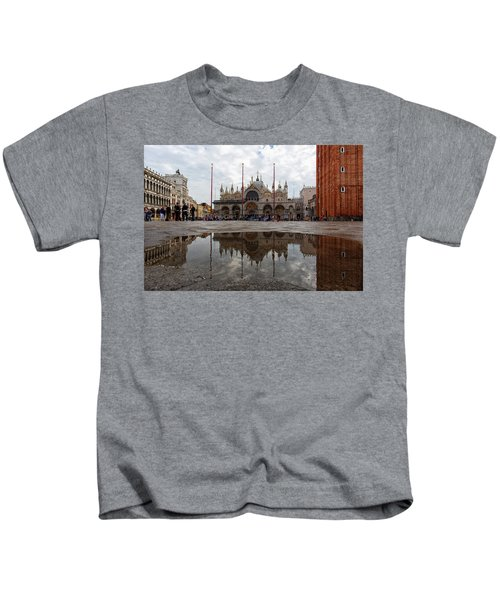San Marco Cathedral Venice Italy Kids T-Shirt