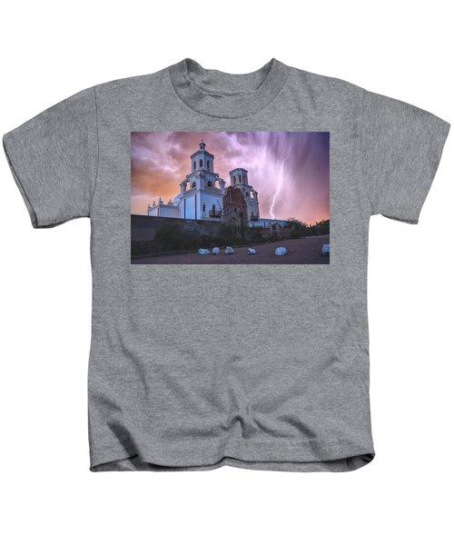 San Xavier Mission Lightning Kids T-Shirt