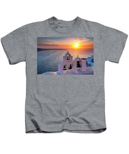 Santorini Sunset Kids T-Shirt