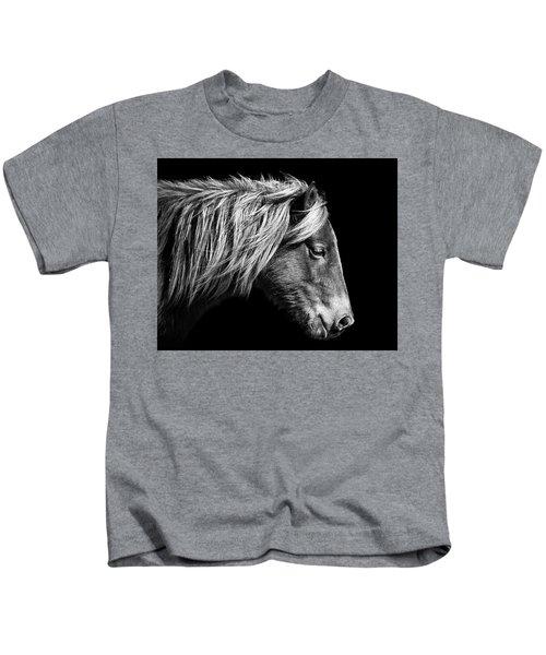 Sarah's Sweat Tea Portrait In Black And White Kids T-Shirt