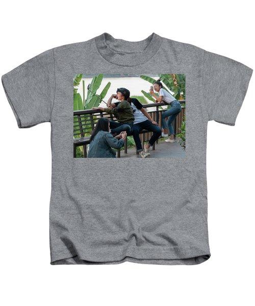 Selfie Obsessed Kids T-Shirt