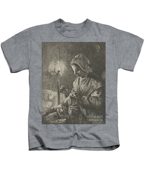 Sewing By Lamplight Kids T-Shirt