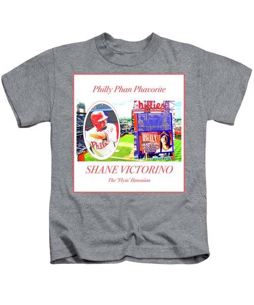 Shane Victorino, Philly Phan Phavorite Kids T-Shirt