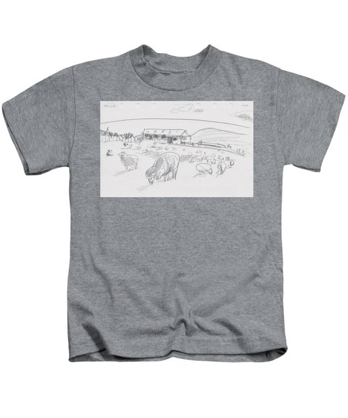 Sheep On Chatham Island, New Zealand Kids T-Shirt