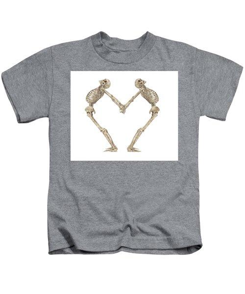 Skeleton Yoga 001 Kids T-Shirt
