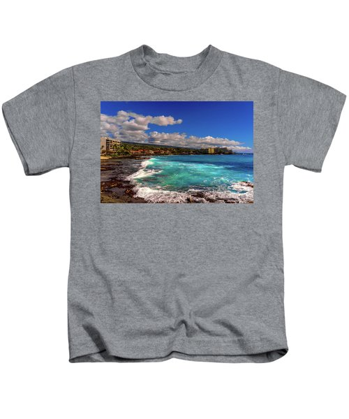 Southern View Of The Shore Kids T-Shirt