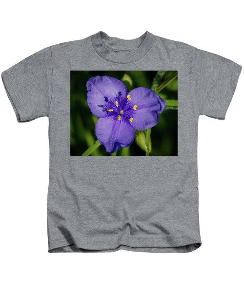 Spiderwort Flower Kids T-Shirt