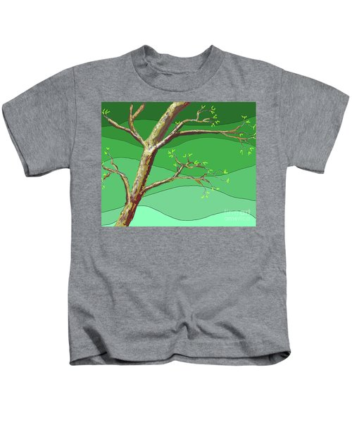 Spring Errupts In Green Kids T-Shirt