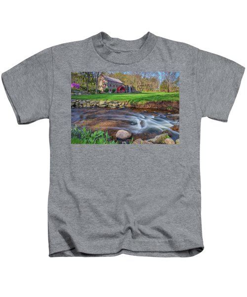 Springtime At The Grist Mill Kids T-Shirt