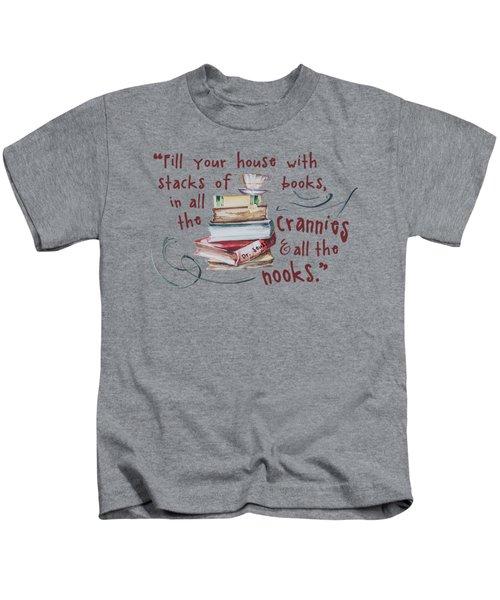 Stacks Of Books Kids T-Shirt