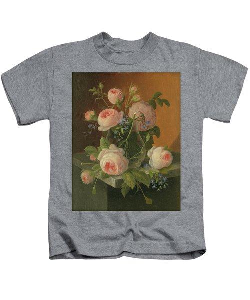 Still Life With Roses, Circa 1860 Kids T-Shirt