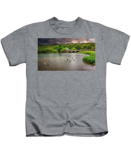 Stone Bridge Llanberis Wales Kids T-Shirt