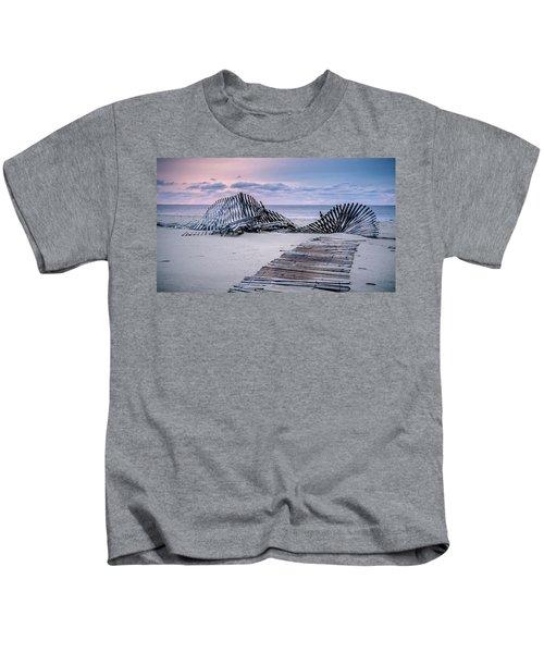 Storm Fence Sunrise Kids T-Shirt