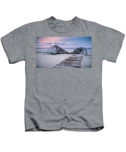 Storm Fence Sunrise Kids T-Shirt