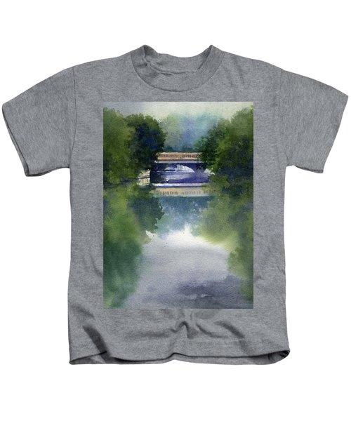 Stormy Day On Bridge Road Kids T-Shirt