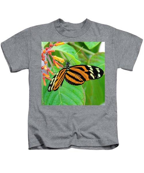 Striking In Orange And Black Kids T-Shirt