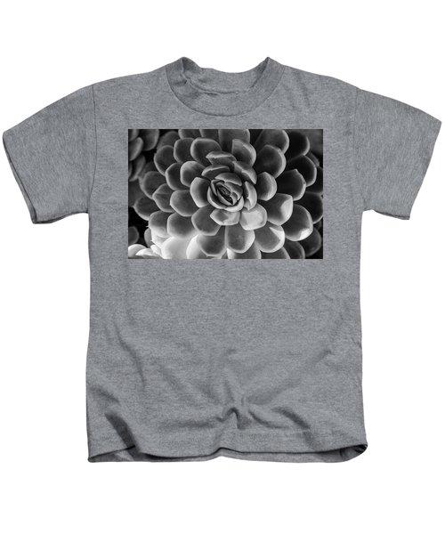 Succulent - Bw - 2 Kids T-Shirt