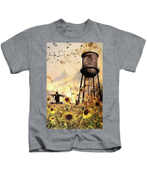Sunflowers At Dusk Kids T-Shirt