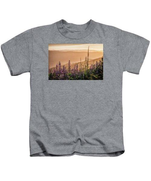 Sunset Among The Lupine Kids T-Shirt