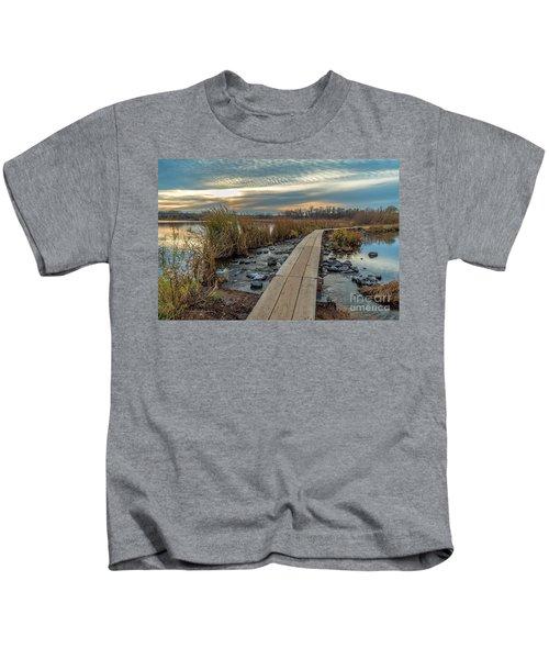 Sunset At Purgatory Creek Kids T-Shirt