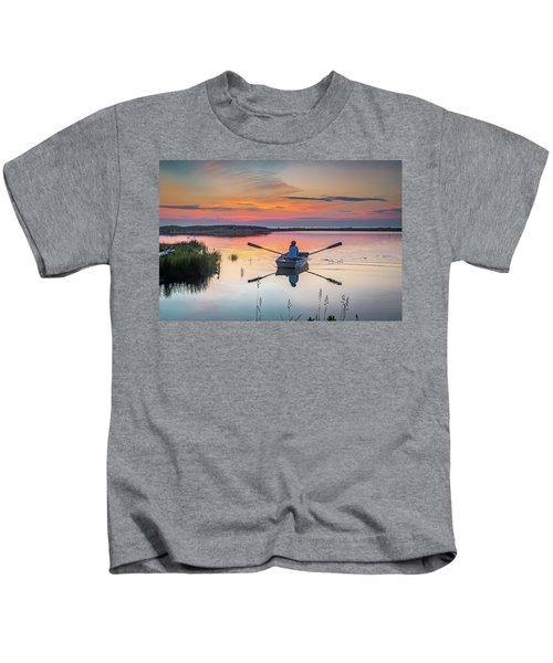 Sunset  Crossing Kids T-Shirt