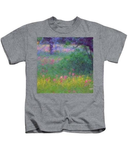 Sunset In Flower Meadow Kids T-Shirt