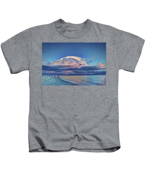 Sunset Over Sanibel Island Kids T-Shirt