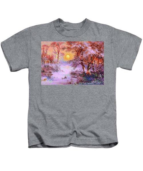 Sunset Snow Kids T-Shirt