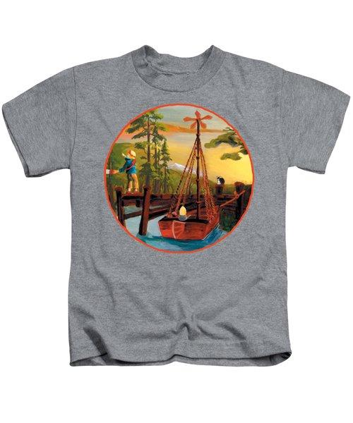 Super Boat Overlay Kids T-Shirt