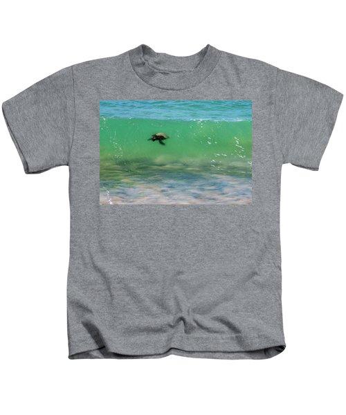 Surfing Turtle Kids T-Shirt