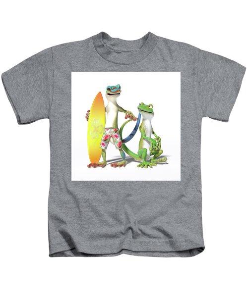 Surf's Up Geckos Kids T-Shirt