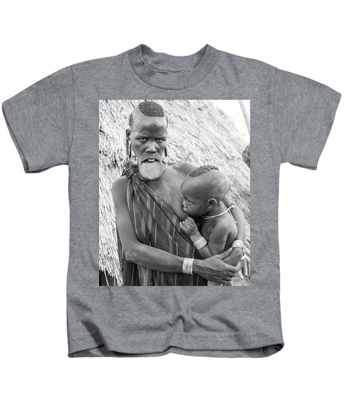 Mursi Mother And Child Kids T-Shirt
