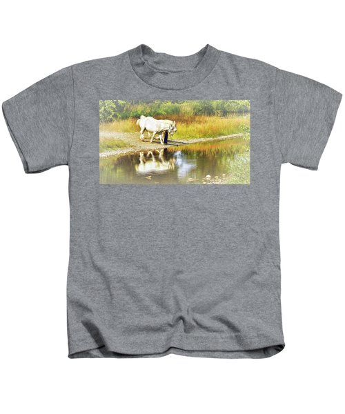 Leading The Horses To Water Kids T-Shirt