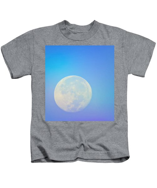Kids T-Shirt featuring the photograph Taurus Almost Full Moon Blend by Judy Kennedy