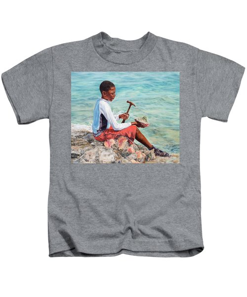 The Conch Boy Kids T-Shirt