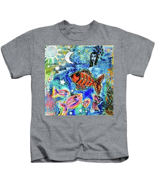 The Day The Stars Fell Into The Ocean Kids T-Shirt