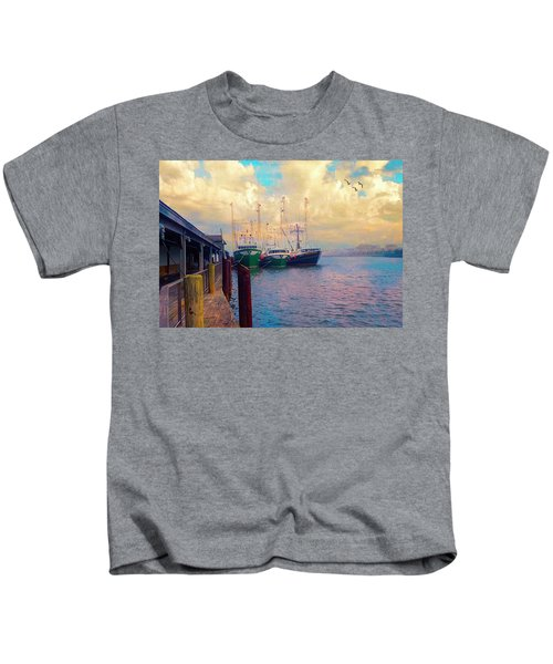 The Docks At Cape May Kids T-Shirt