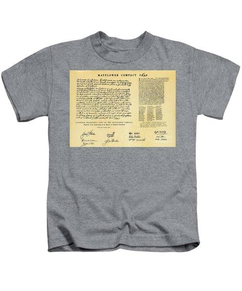 The Mayflower Compact  Kids T-Shirt