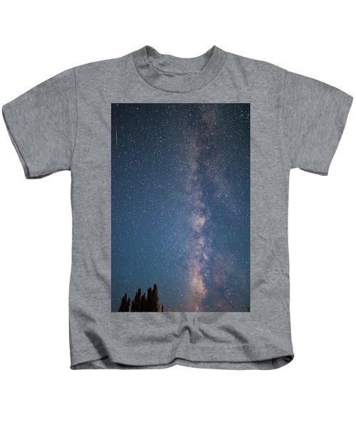 The Milky Way In Arizona Kids T-Shirt