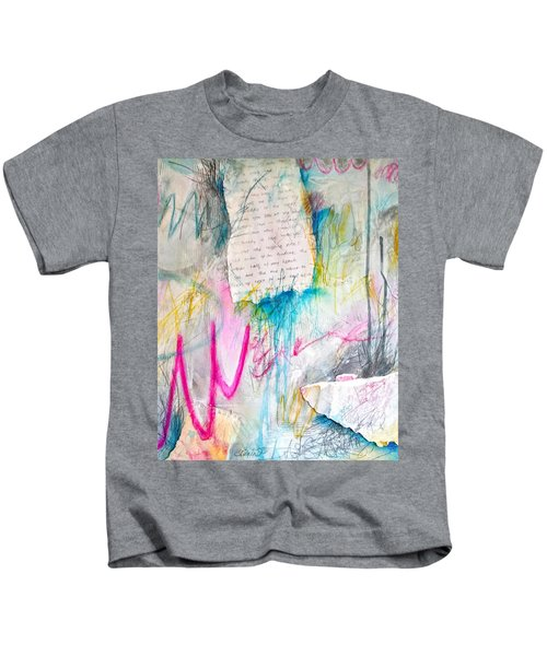 Kids T-Shirt featuring the painting The Other Half Of My Heart by Tracy Bonin