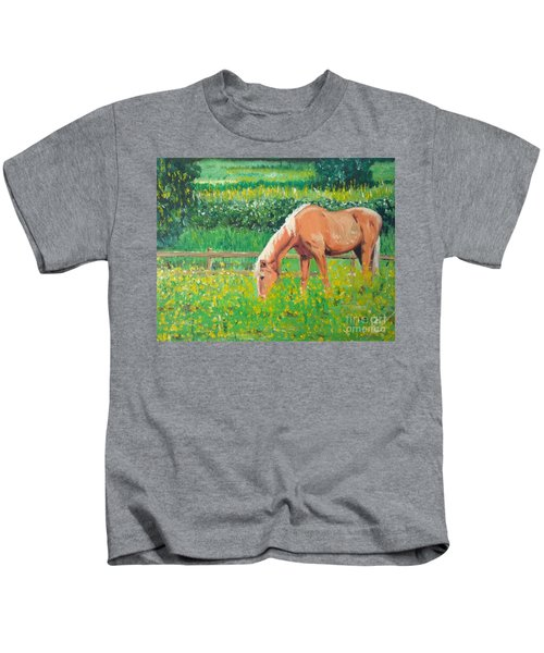 The Palomino And Buttercup Meadow Kids T-Shirt